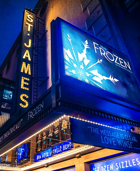 """NOW PLAYING AT THE LEGENDARY ST. JAMES THEATRE. """""""