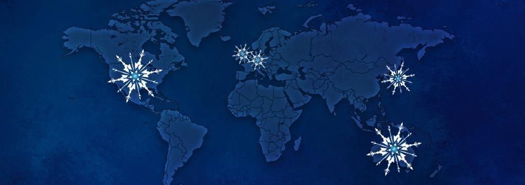Disney FROZEN Worldwide Map