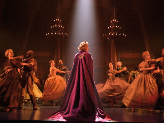 Caissie Levy (Elsa) and the Company of FROZEN on Broadway - Waltz. Photo by Deen van Meer.