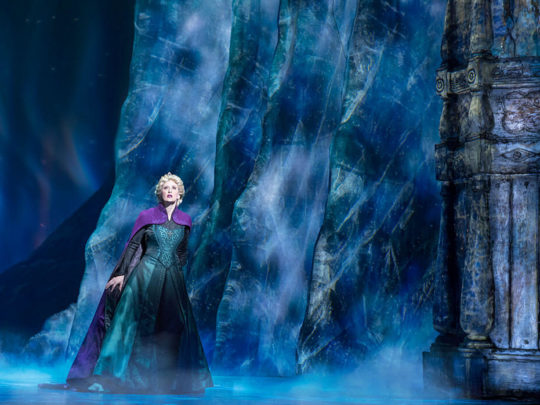 Caissie Levy as Elsa in FROZEN on Broadway - Freeze. Photo by Deen van Meer.