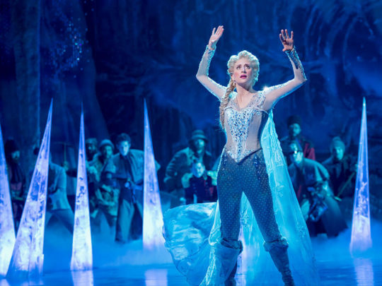 Caissie Levy as Elsa in FROZEN on Broadway Photo by Deen van Meer.