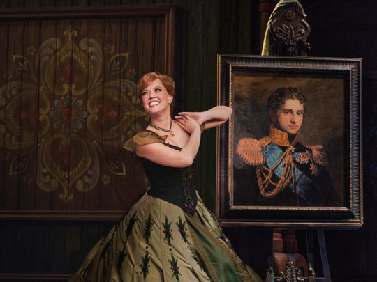 Patti Murin as Anna in FROZEN on Broadway - Portrait. Photo by Deen van Meer.