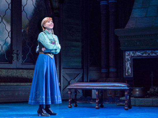 Patti Murin as Anna in FROZEN on Broadway - True Love. Photo by Deen van Meer.