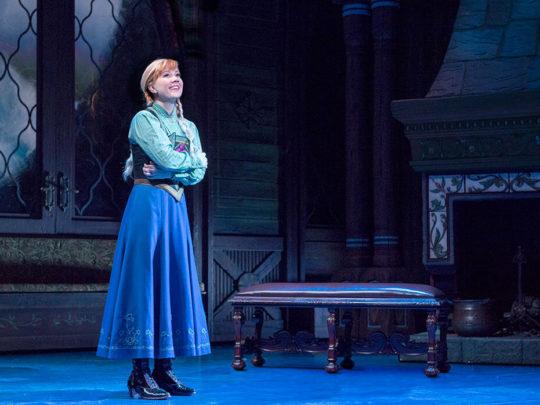 Patti Murin as Anna in FROZEN on Broadway - True Love. Photo by Deen van Meer.