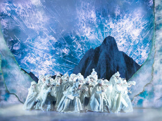 The Company of FROZEN on Broadway Photo by Deen van Meer.