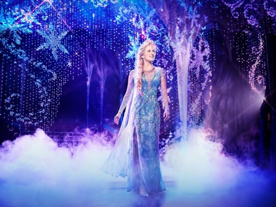 Caissie Levy as Elsa in FROZEN on Broadway. Photo by Saint.