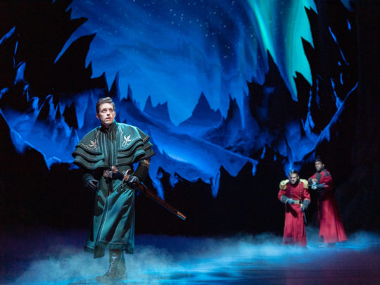 Joe Carroll as HANS in Frozen Broadway. Photo by Deen van Meer.