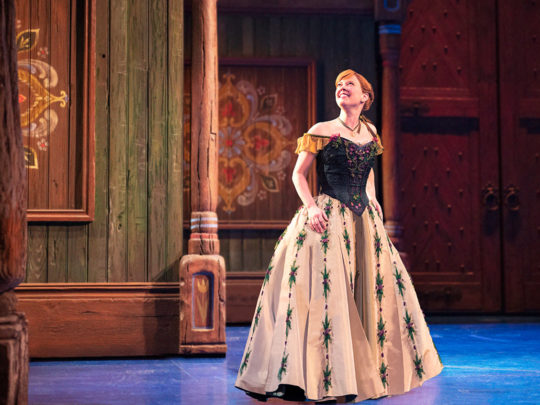 Patti Murin as ANNA in Frozen Broadway. Photo by Deen van Meer.