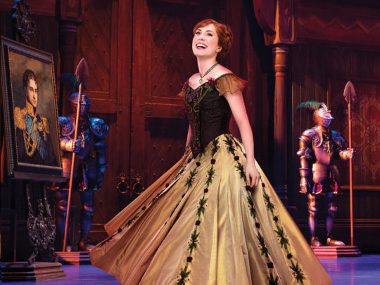 McKenzie Kurtz as ANNA in Frozen Broadway. Photo by Mary Ellen Matthews.