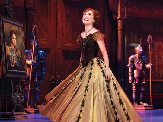 McKenzie Kurtz as ANNA in Frozen Broadway. Photo by Mary Ellen Matthews.