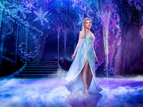 Ciara Renee as ELSA in Frozen Broadway. Photo by Mary Ellen Matthews.