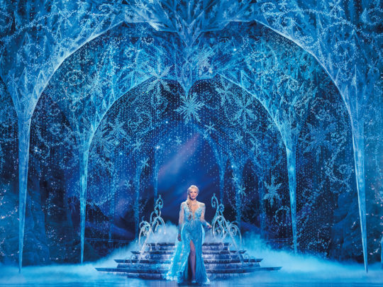Caroline Bowman as Elsa in FROZEN North American Tour. Photo by Deen van Meer.