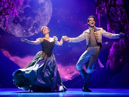 Patti Murin as Anna, John Riddle as Hans: Original Broadway Company, Photo by Deen van Meer.