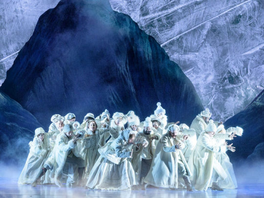 The Company of FROZEN: Original Broadway Company, Photo by Deen van Meer.